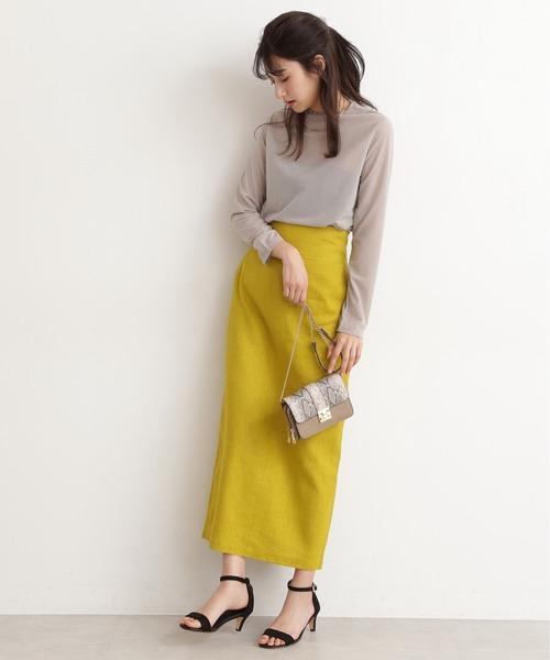 [N.(N. Natural Beauty Basic)] ◆麻混タイトマキシスカート