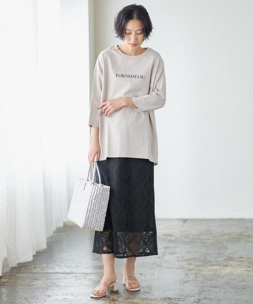 [Discoat] シンプルロゴ7分袖Tシャツ