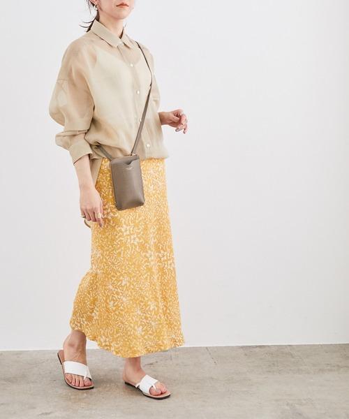[ROPE'] フラワープリントマーメイドスカート