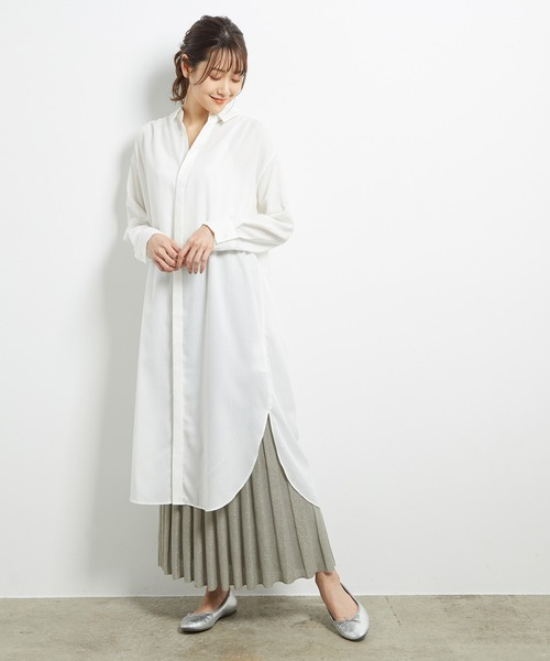 [ROPE' PICNIC] ラメニットプリーツスカート