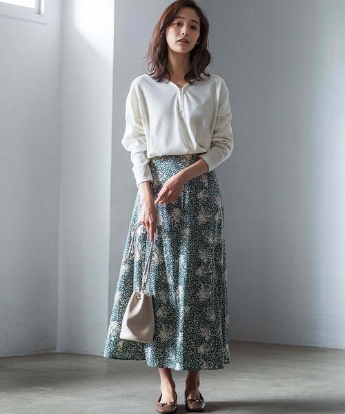 [GeeRA] 【WEB限定】プリントパネルフレアースカート