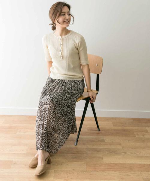 [URBAN RESEARCH] レオパードプリーツスカート