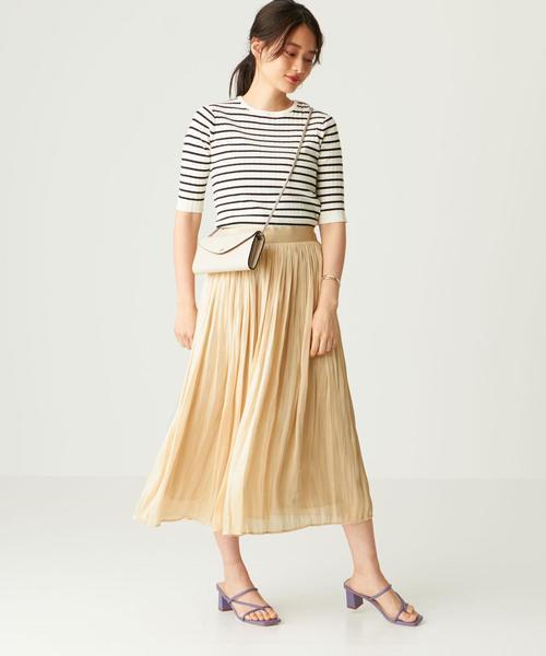 [EMMEL REFINES] FC AIRメタルサテン ギャザースカート