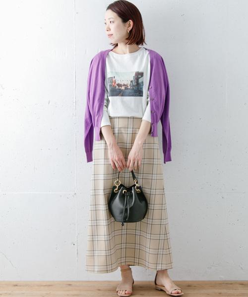 [URBAN RESEARCH] 【WEB限定】チェックロングスカート
