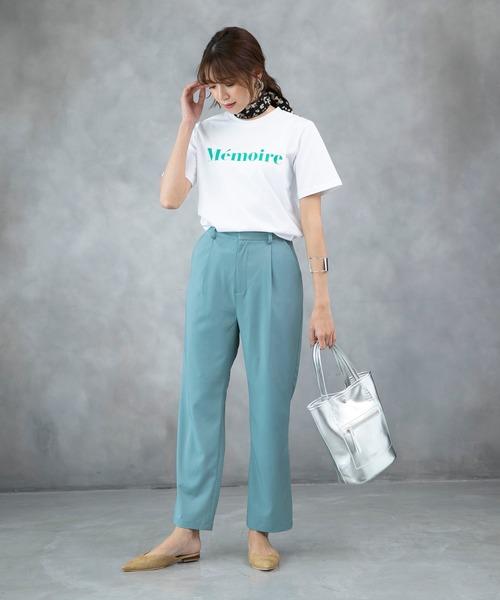 [210nouve] 【Memoire】ロゴプリントTシャツ