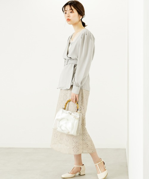 [natural couture] おしゃれレーススカート