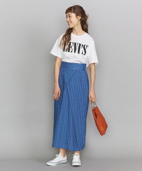 ショートスリーブTシャツ×デニムスカート