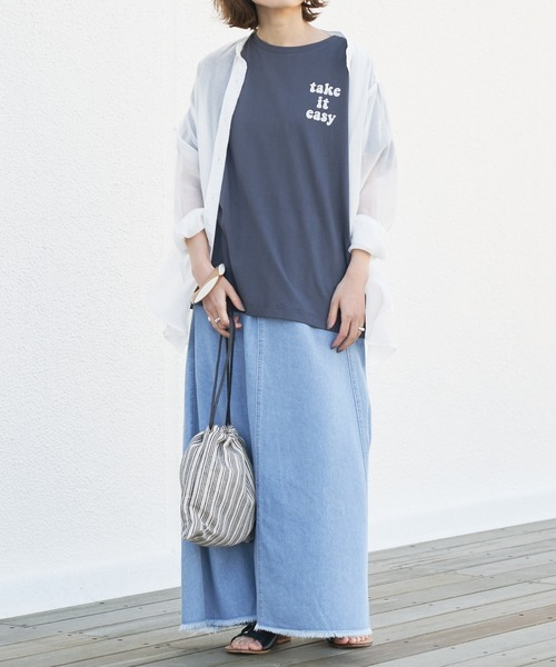 [CIAOPANIC TYPY] 【TYPYDENIM】ストレートスカート