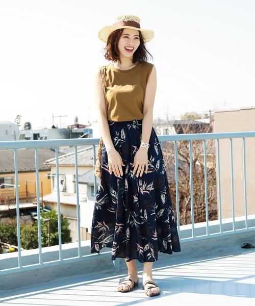 [BAYFLOW] アソートガラマキシスカート
