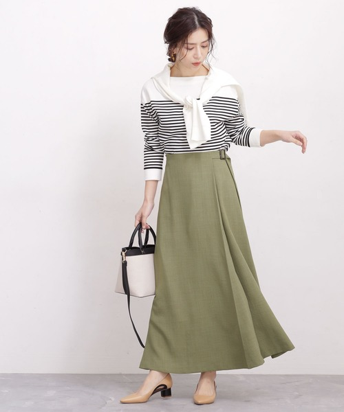 大人女性のためのスカートを使ったカジュアルコーデ