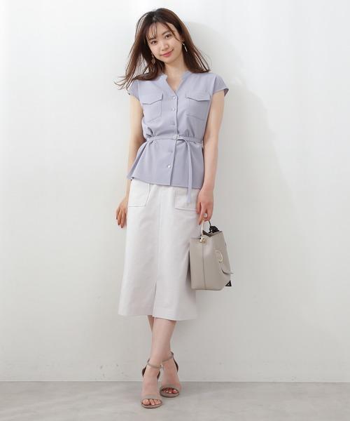 [PROPORTION BODY DRESSING] 【ブルー:WEB限定カラー】ビックポケットタイトスカート