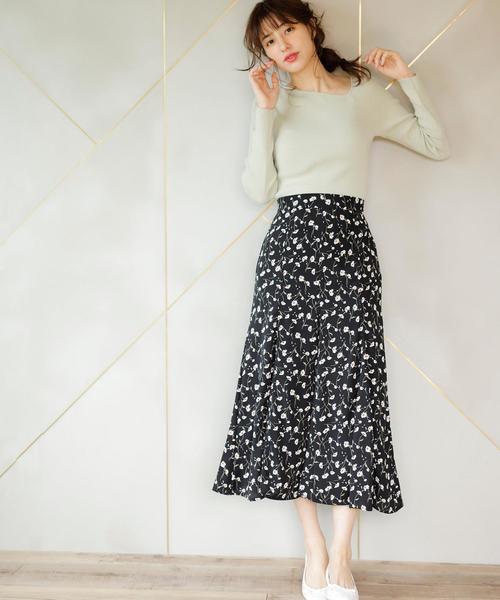[INGNI] 花柄/マーメイドスカート