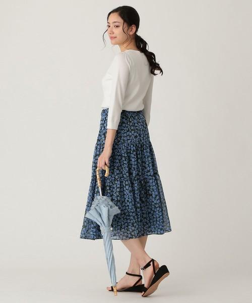 40代夏の雨の日コーデ【スカート】2