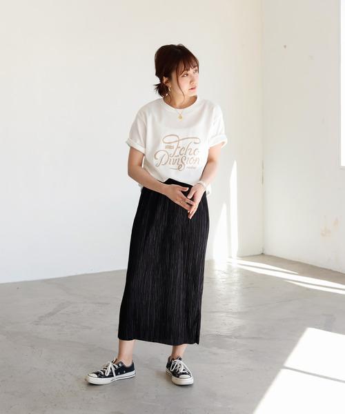 [Auntie Rosa] 【Holiday】ミニプリーツミディスカート