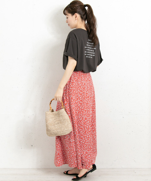 [URBAN RESEARCH] 【WEB限定】レトロフラワーフレアスカート