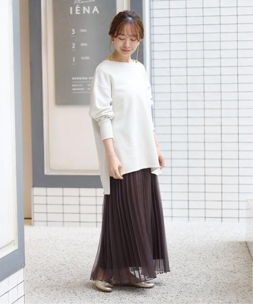 [IENA] マットオーガンジープリーツスカート◆