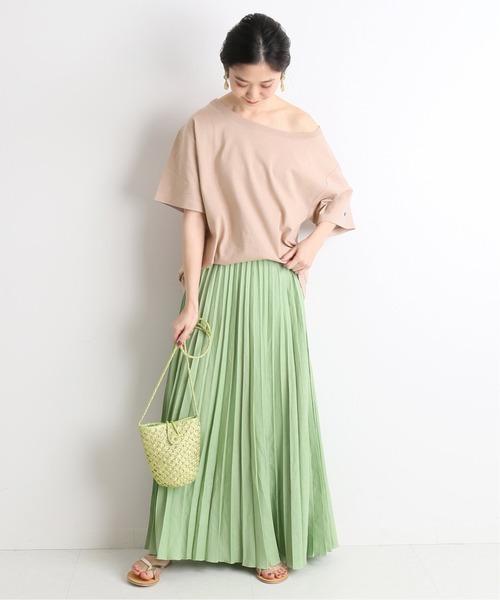 ナチュラル女子コーデ◎Tシャツ×スカート