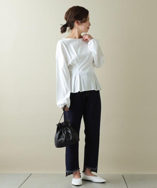 [COLONY 2139] 【SMART COLLECTION】タックフレア長袖Tシャツ【スマート】