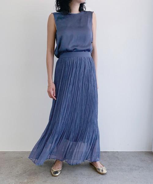 [ROPE'] 【WEB限定】ワッシャープリーツスカート