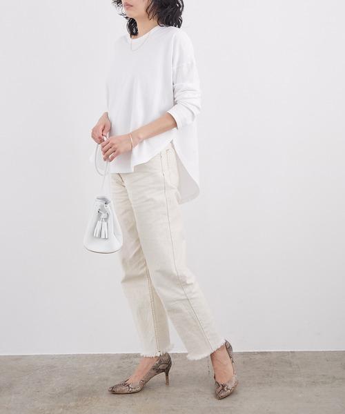 [ROPE'] 【WEB限定】コットンチュニックTシャツ