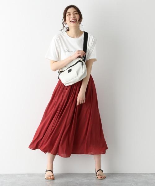 [GLOBAL WORK] エアリーカラーボイルスカート/878122