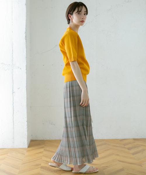 [KBF] チェック消しプリーツスカート