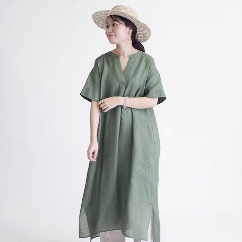 [SHIPS for women] テレデランリネンワンピース◇