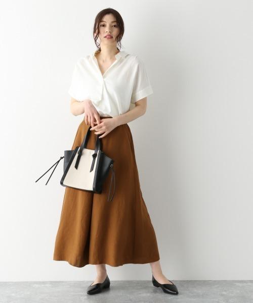 品のあるフレアスカートできれいめ夏コーデ