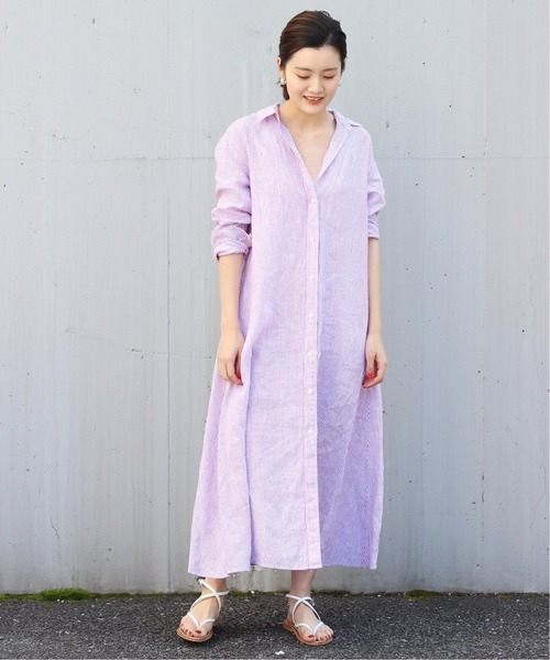 [Plage] Linen Flared ワンピース2◆