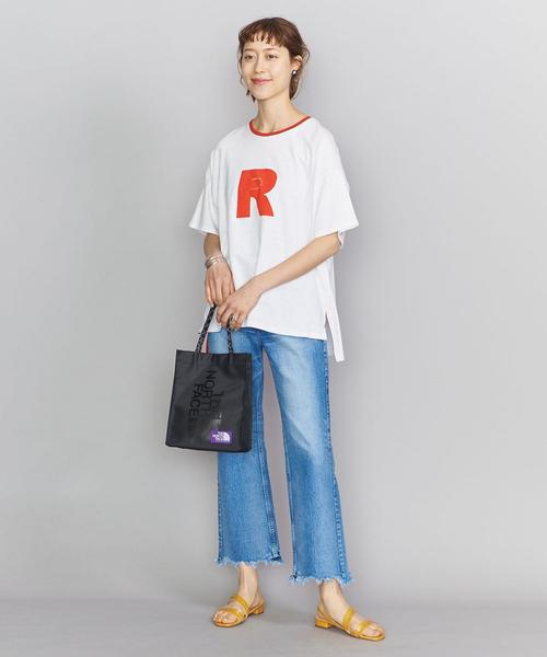 [BEAUTY&YOUTH UNITED ARROWS] 【別注】<AMERICANA(アメリカーナ)>RED プリントTシャツ