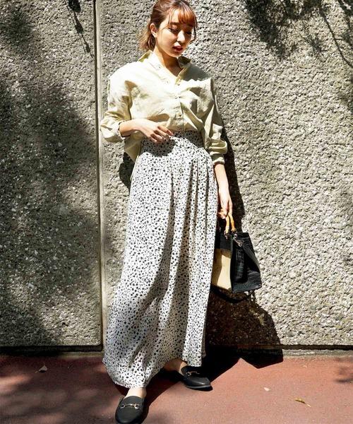 [FREE'S MART] レトロフラワーマキシスカート