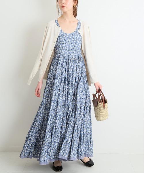 [IENA] 【MARIHA/マリハ】草原の虹のドレス ノースリーブ◆