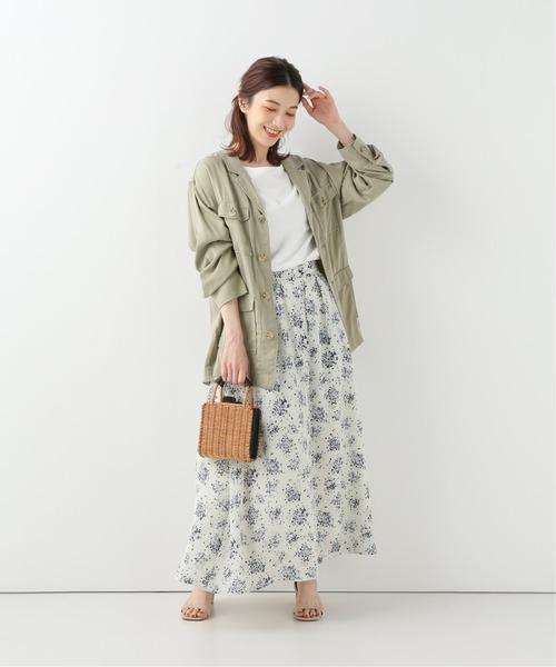 [IENA] フラワーブーケスカート◆