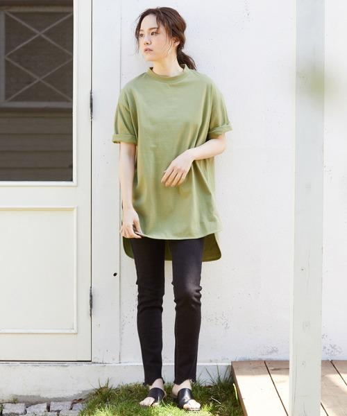 [ViS] 【WEB限定】オーバーサイズラウンドヘムTシャツ