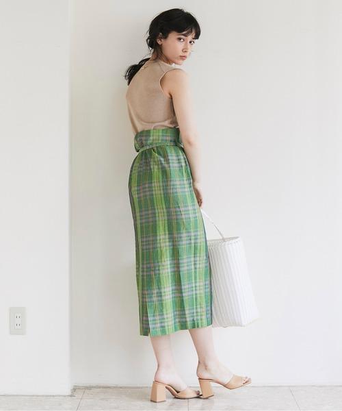 [GALLARDAGALANTE] チェックラップスカート