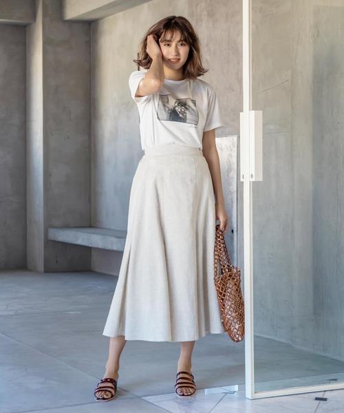 [kobelettuce] コットンリネンマーメイドマキシスカート【セットアップOK】