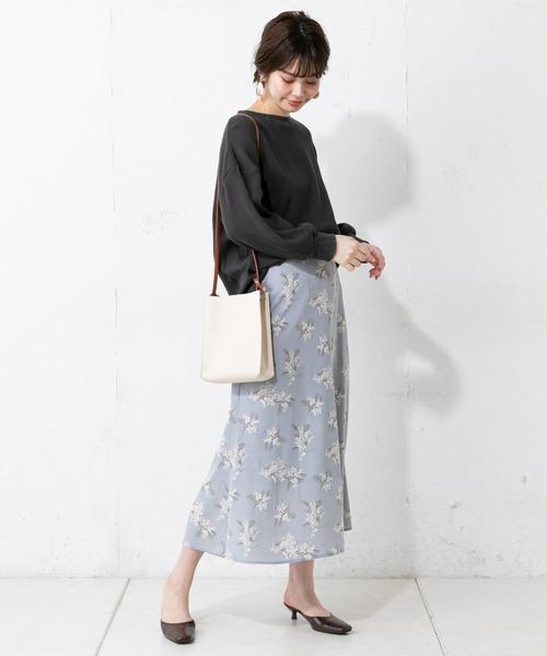 [natural couture] 春カラーワッフルプルオーバー