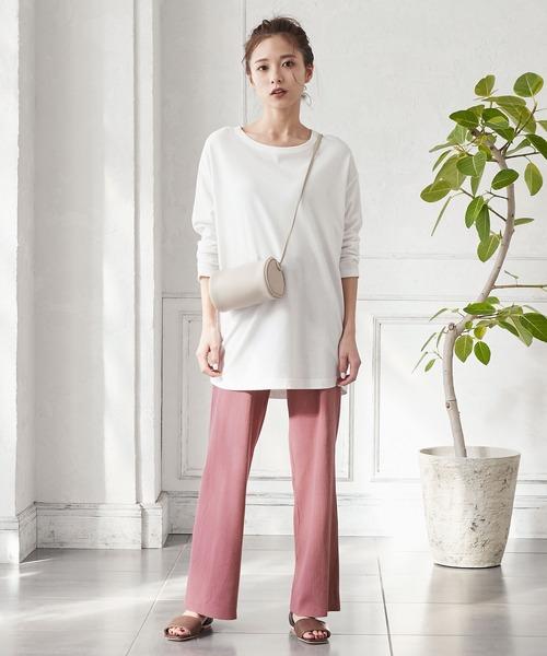 [kobelettuce] [ワイドパンツ/スカート]お好みの長さにカットできる2typeリブカットソーボトムス