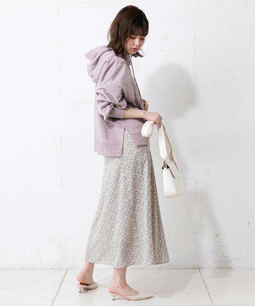 [natural couture] 【WEB限定カラー有り】裏毛ゆるパーカー