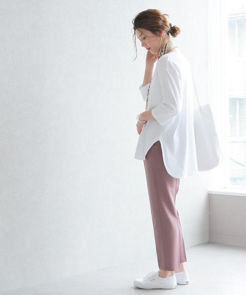 [reca] ラウンド裾 七分袖カットソー