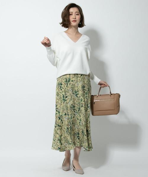 [RIVE DROITE] デザートフラワーナローマーメイドスカート