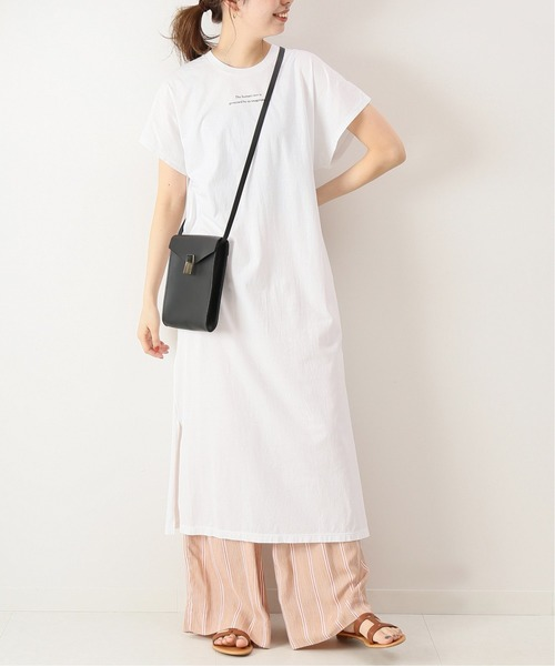 [Spick & Span] 【TICCA】ロゴフレンチスリーブワンピース◆