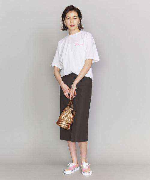 [BEAUTY&YOUTH UNITED ARROWS] <Glazed>GIRLプリントTシャツ