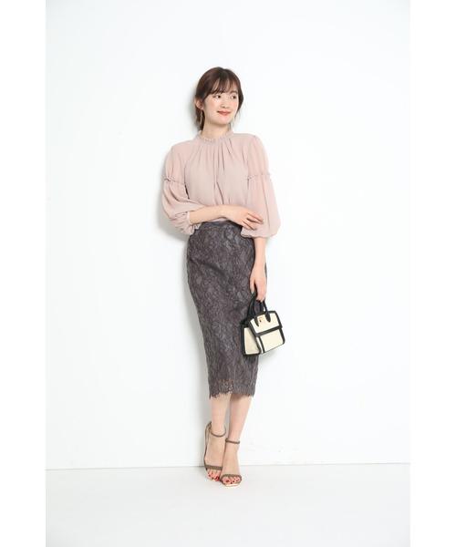 [Apuweiser-riche] レースタイトスカート