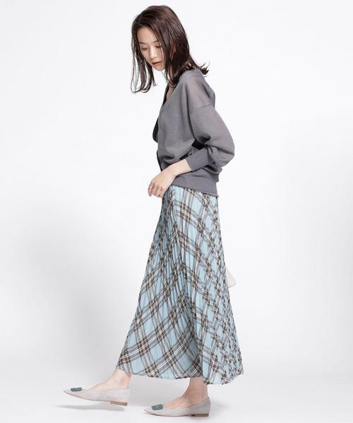 [nano・universe] チェックプリーツスカート