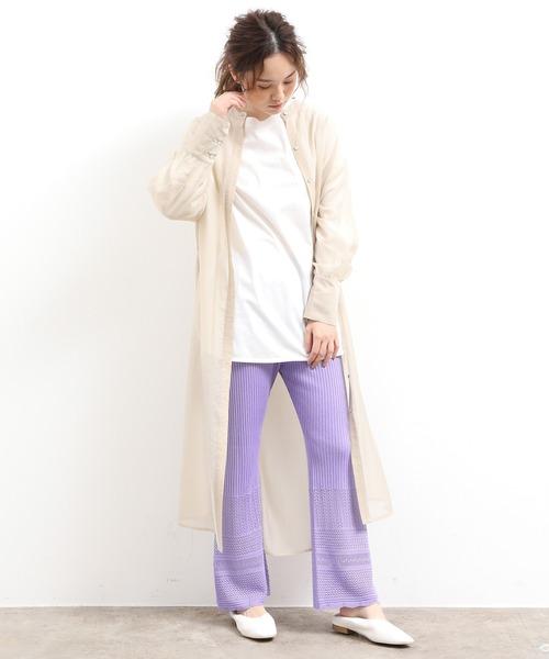 [ViS] 透かし編みニットパンツ