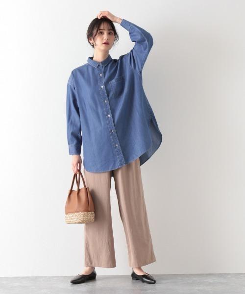 [GLOBAL WORK] デニム抜け感羽織シャツ/876437
