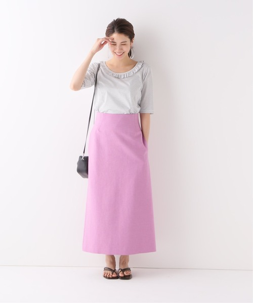 フェミニンな着こなし◎プルオーバー×スカート