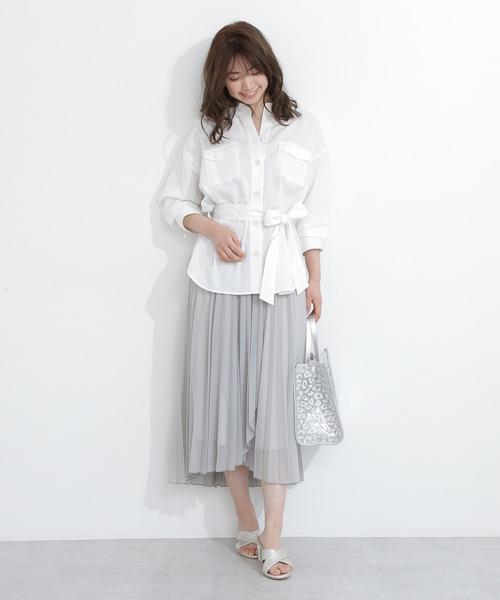 [PROPORTION BODY DRESSING] ベルト付サファリシャツⅡ