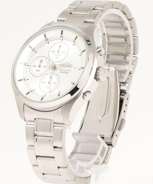 クロノグラフメタルベルト腕時計